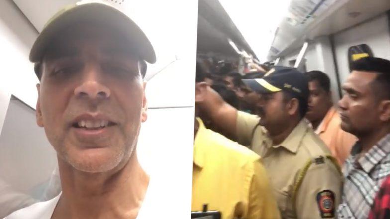 अक्षय कुमार ने चोरी छिपे मुंबई मेट्रो में किया सफर, कहा- रिस्क लेकर आया था और बेहद खुश हूं