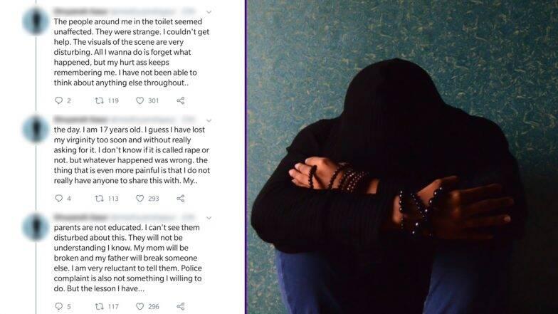 पब्लिक टॉयलेट में 17 वर्षीय लड़के के साथ दुष्कर्म, ट्विटर पर बयां किया अपना दर्द- कहा 'लड़के भी सेफ नहीं'