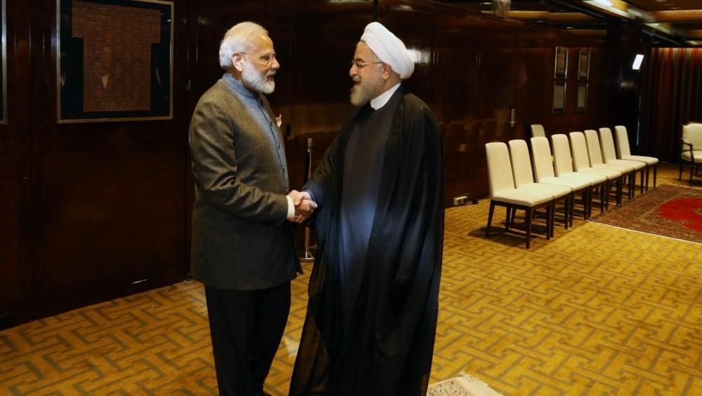प्रधानमंत्री नरेंद्र मोदी और ईरान के राष्ट्रपति हसन रूहानी ने यूएनजीए में चाबहार पर चर्चा की