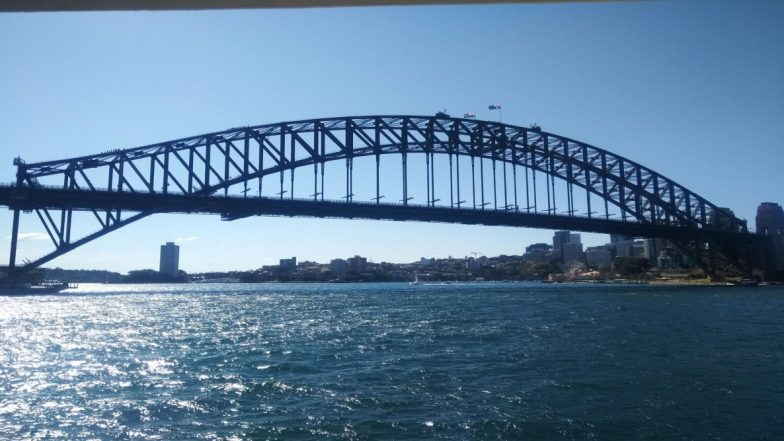 आस्ट्रेलिया: सिडनी के हार्बर ब्रिज पर अमेरिकी डीजे-रिकॉर्ड प्रोड्यूसर डिप्लो ने रचा इतिहास, 440 फीट की ऊंचाई मनाया जश्न
