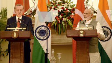 तुर्की के राष्ट्रपति रेसेप तईप एर्दोगन ने पाकिस्तान का किया समर्थन, भारत ने दिया करारा जवाब