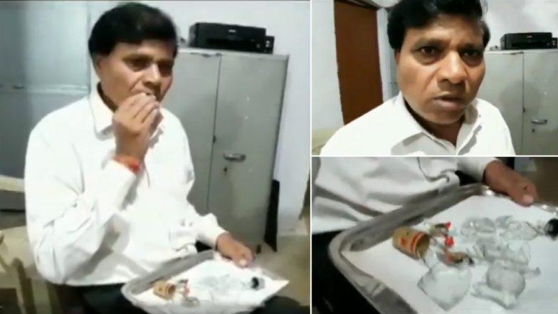 OMG! कांच खाने के शौकीन हैं मध्य प्रदेश के ये वकील साहब, पिछले 45 सालों से है इन्हें ये नशा, वीडियो देख आप भी रह जाएंगे दंग