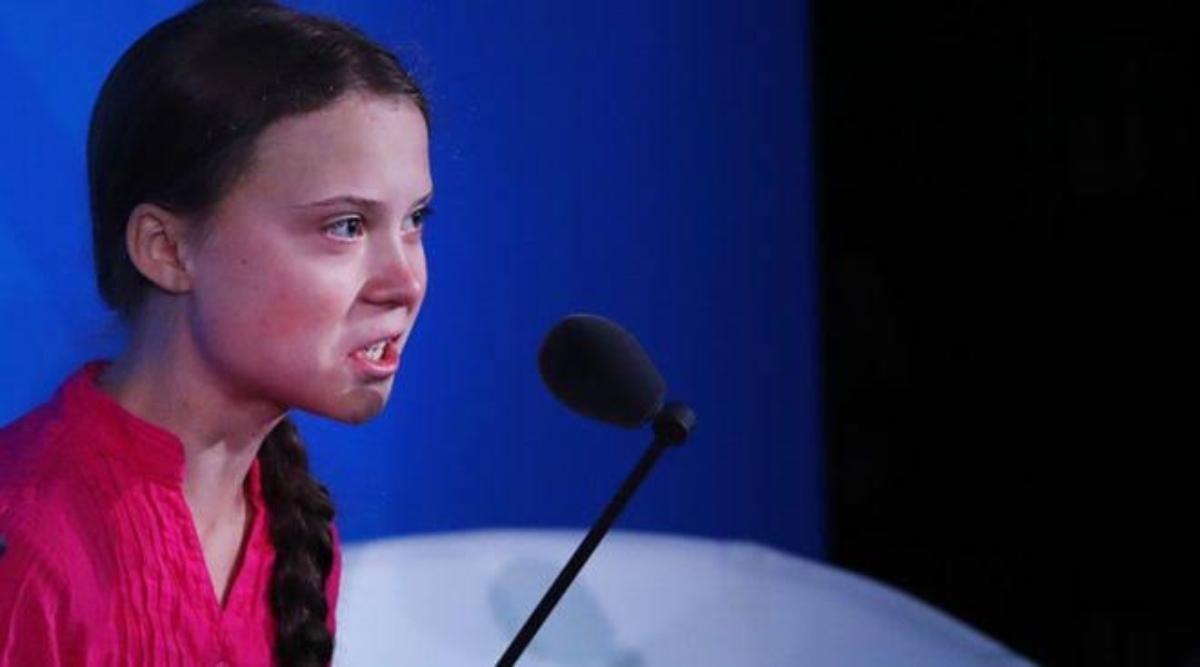 ग्रेटा थनबर्ग ने ग्लोबल वार्मिंग के खिलाफ दिया आक्रामक बयान, कहा- पर्यावरण बचाने के लिए कभी फटकार लगाती है कभी गुहार