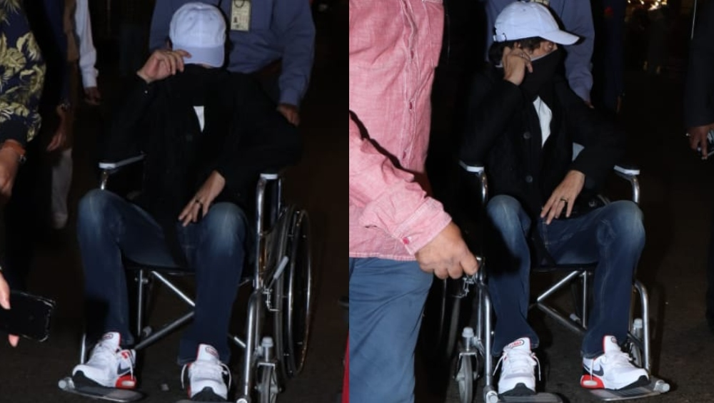 OMG! व्हीलचेयर पर बैठ भारत लौटे इरफान खान, चेहरा छिपाते हुए एअरपोर्ट पर हुए स्पॉट