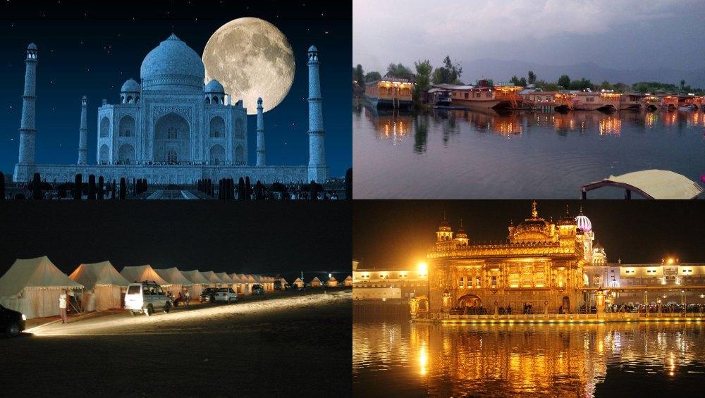 भारत की वो मशहूर जगहें, जिनकी खूबसूरती चांद की रोशनी में होती है देखने लायक, रात में करें इनका दीदार
