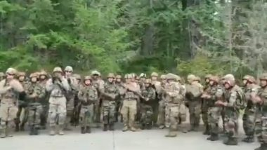असम रेजिमेंट के मार्चिंग गीत पर थिरकते दिखे भारतीय-अमेरिकी सैनिक, संयुक्त युद्धाभ्यास के दौरान का है यह वीडियो, आप भी देखें