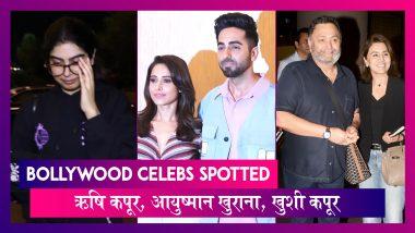 Bollywood Celebs Spotted: Rishi Kapoor लौटे मुंबई, Khushi Kapoor पढ़ाई के लिए विदेश रवाना