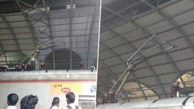 मुंबई: कोपरखैरने स्टेशन पर पेंटाग्राम के बाद ट्रांस-हार्बर लाइन पर बाधित लोकल ट्रेन सेवाएं