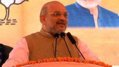 अमित शाह ने कांग्रेस-एनसीपी पर साधा निशाना, कहा- धारा 370 पर राहुल गांधी और शरद पवार अपना रुख स्पष्ट करें