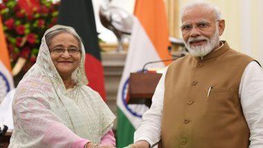 पीएम नरेंद्र मोदी ने बांग्लादेशी प्रधानमंत्री शेख हसीना को भारत और बांग्लादेश के बीच होनेवाले टेस्ट मैच में शामिल होने का दिया न्योता