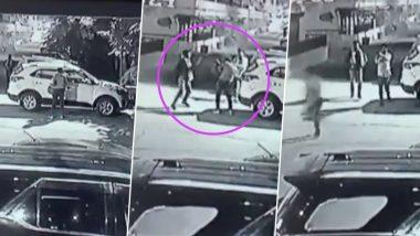 नोएडा: सोसायटी के अंदर घुसकर बदमाशों ने प्रॉपर्टी डीलर पर की फायरिंग, बाल-बाल बची जान- देखें VIDEO