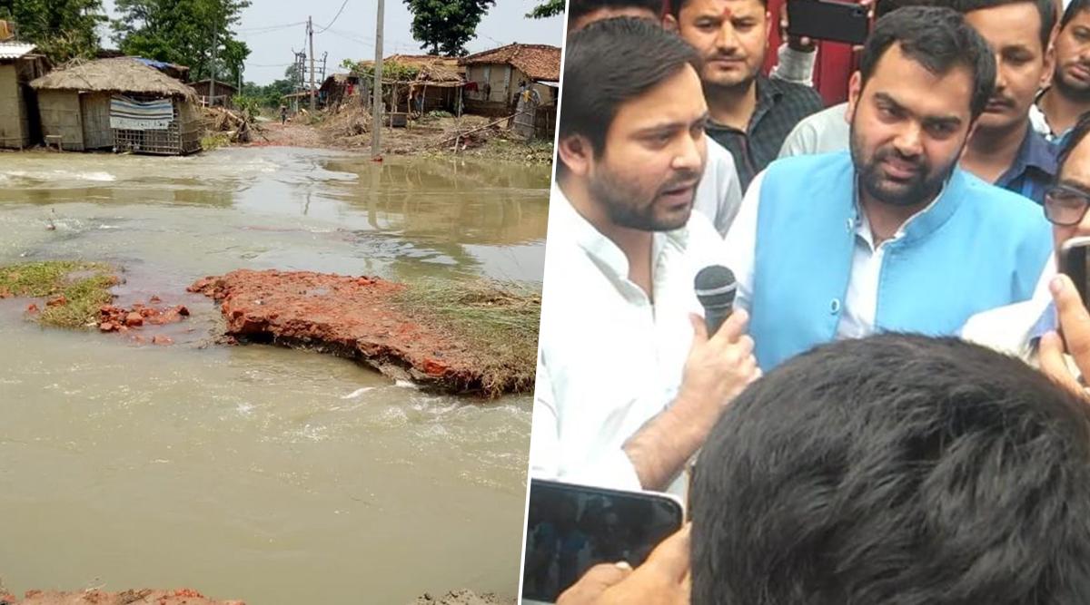 बाढ़ से बेहाल बिहार को छोड़ हरियाणा में जीजाजी का प्रचार करने पहुंचे तेजस्वी यादव, गुस्साए लोगों ने ऐसे निकाली भड़ास