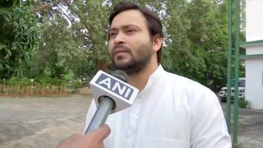 तेजस्वी यादव ने NDA पर साधा निशाना, कहा- बिहार बाढ़ से बेहाल है और BJP-JDU नेता कुत्ते-बिल्ली की तरह लड़ रहे हैं