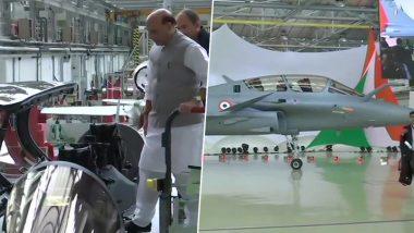 भारत को मिला पहला राफेललड़ाकू विमान, रक्षामंत्रीराजनाथ सिंह रहे मौजूद, देखें तस्वीरें