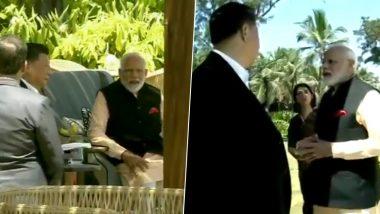 पीएम मोदी और चीन के राष्ट्रपति शी जिनपिंग के बीच अनौपचारिक मुलाकात खत्म, करीब 40 मिनट तक दोनों नेताओं के बीच चली बातचीत