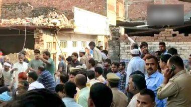 उत्तर प्रदेश: मऊ में सिलेंडर ब्लास्ट से  दो मंजिला मकान ध्वस्त, 12 की मौत- कई घायल