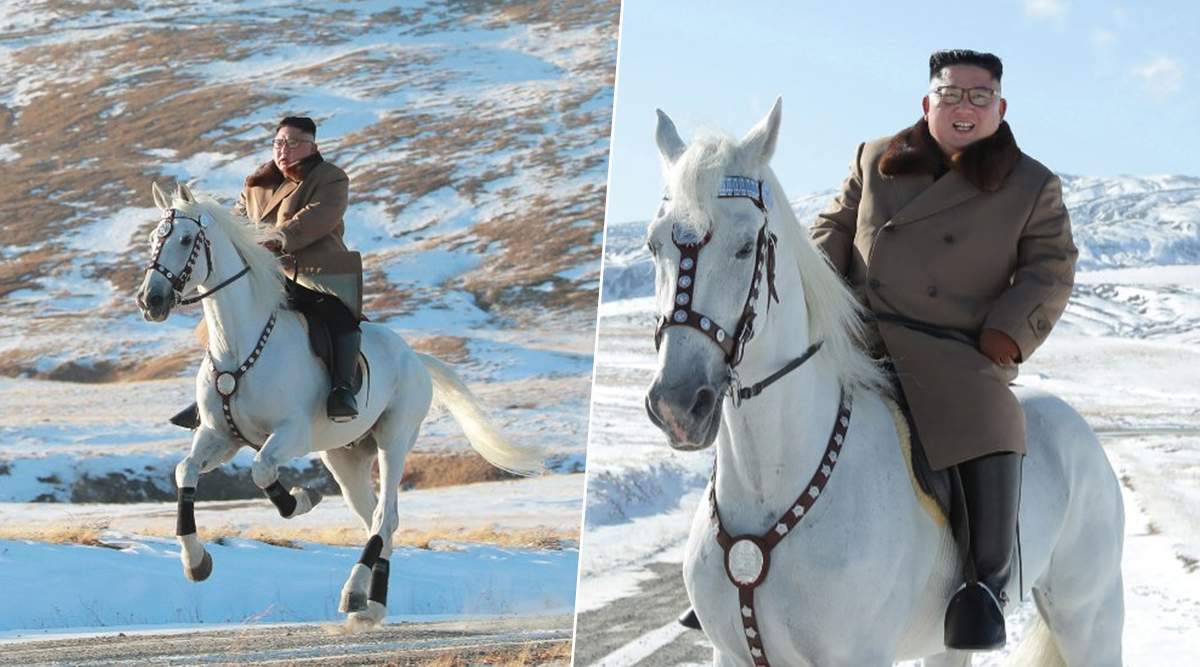 तानाशाह किम जोंग उन का अनोखा अंदाज, बर्फीली वादियों में सफेद घोड़े पर की सवारी