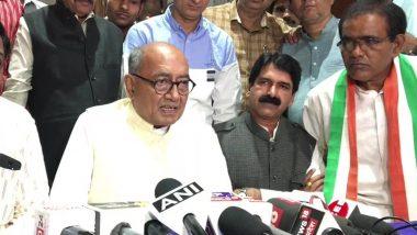 कांग्रेस नेता दिग्विजय सिंह का बीजेपी पर हमला, कहा- महात्मा गांधी के हत्यारों में सावरकर का नाम था दर्ज, अंग्रेजों से माफी मांगी थी