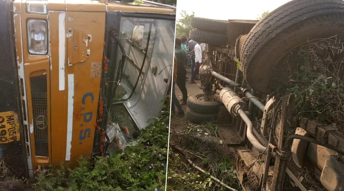 मध्यप्रदेश के होशंगाबाद में भीषण सड़क हादसा, स्कूल बस दुर्घटनाग्रस्त- 5 बच्चें घायल