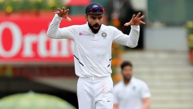 IND vs SA 3rd Test Match 2019: रांची में सिंघम बनकर अफ्रीकी टीम पर टूटे कप्तान विराट कोहली, देखें तस्वीर
