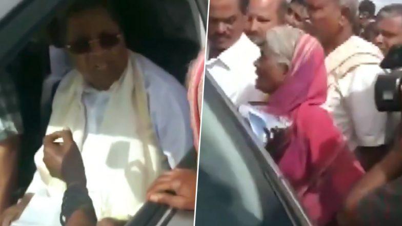 कांग्रेस नेता सिद्धारमैया ने चुनावी वादा नहीं किया पूरा, बुजुर्ग महिला ने सभी सामने कर दी फजीहत- देखें वीडियो