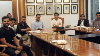IND vs BAN Series 2019: BCCI अध्यक्ष सौरव गांगुली ने विराट और रोहित से की मुलाकात, देखें तस्वीर