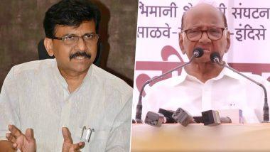 शिवसेना नेता संजय राउत ने NCP प्रमुख शरद पवार से की मुलाकात, कहा- महाराष्ट्र की राजनीति पर हुई चर्चा