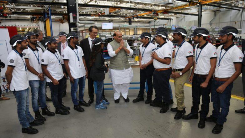 केंद्रीय मंत्री राजनाथ सिंह ने फ्रेंच रक्षा कंपनियों को भारत में किया आमंत्रित