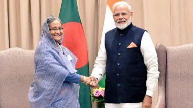 पीएम नरेंद्र मोदी ने बांग्लादेश की प्रधानमंत्री शेख हसीना से की मुलाकात, दोनों पक्षों ने द्विपक्षीय संबंधों को लेकर की बातचीत