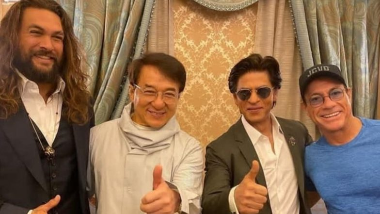 हॉलीवुड स्टार्स जैकी चैन और वैन डैम के साथ शाहरुख खान का फैन मूमेंट, एक्टर ने सोशल मीडिया पर शेयर की तस्वीर