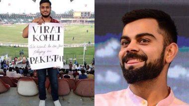 पाकिस्तानी प्रशंसक ने भारतीय टीम के कप्तान विराट कोहली को अपने देश में खेलने के लिए दिया आमंत्रण
