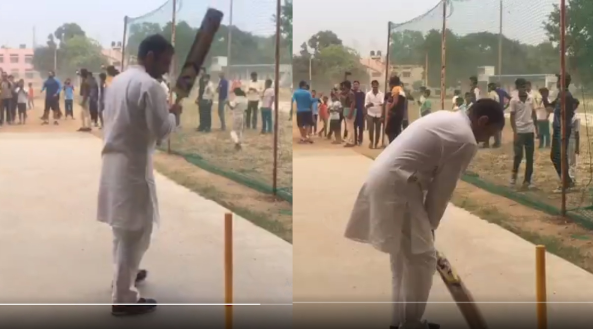 राहुल गांधी ने बच्चों के साथ जमकर भांजा बल्ला, हेलिकॉप्टर की आपात लैंडिंग के बाद पहुंचे थे ग्राउंड- Video