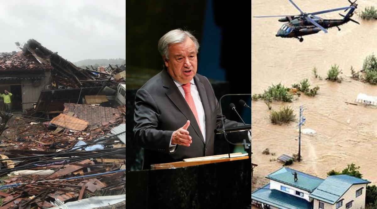 जापान: संयुक्त राष्ट्र प्रमुख एंटोनियो गुटेरेस ने हेगीबिस तूफान के कारण मरनेवालों के प्रति जताई संवेदना, अबतक 35 की मौत 17 अन्य लापता