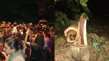 मुंबई: आरे कॉलोनी में पेड़ों की कटाई को लेकर विरोध प्रदर्शन जारी, पुलिस ने लागु की धारा 144