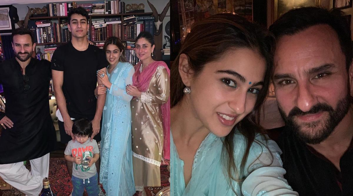 सारा अली खान परिवार संग मना रही हैं दिवाली, सोशल मीडिया पर शेयर की तस्वीरें