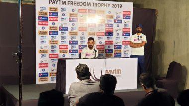 IND vs SA 2nd Test Match 2019: दूसरे टेस्ट से पहले विराट कोहली ने रोहित शर्मा को लेकर दिया बड़ा बयान, देखें वीडियो