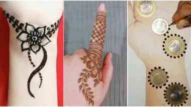 Diwali 2019 Mehndi Designs: समय की है कमी तो दिवाली पर सिर्फ 5 मिनट में अपने हाथों में रचाएं मेहंदी, देखें इंडियन-अरेबिक मेहंदी के खूबसूरत डिजाइन्स