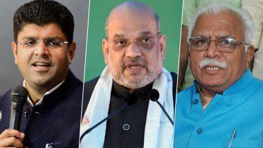 हरियाणा में दुष्यंत चौटाला ने बीजेपी को दिया समर्थन, अमित शाह बोले-जेजेपी का होगा डिप्टी सीएमतो भाजपा का सीएम