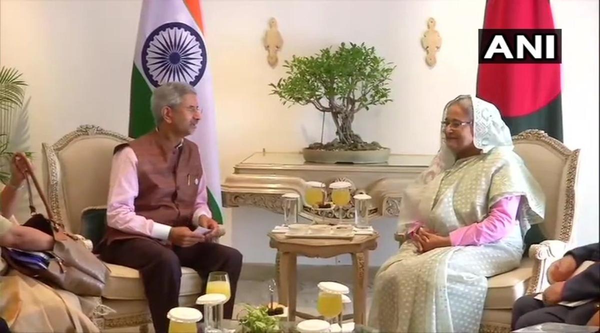 बांग्लादेश की प्रधानमंत्री शेख हसीना ने विदेश मंत्री एस. जयशंकर से की मुलाकात
