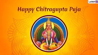 Happy Chitragupta Puja 2019 Wishes & HD Photos: दिवाली उत्सव के आखिरी दिन होती है चित्रगुप्त पूजा, भेजें ये WhatsApp Stickers, Facebook Greetings, GIF Images, Wallpapers और दें प्रियजनों को शुभकामनाएं