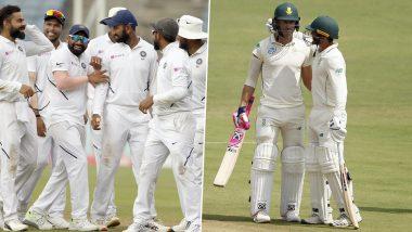 IND vs SA 3rd Test Match 2019: भारत का विशाल स्कोर, दक्षिण अफ्रीका की खराब शुरूआत