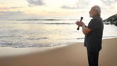 पीएम मोदी ने महाबलीपुरम में सागर के साथ 'संवाद' कर लिखी कविता, ट्विटर पर किया शेयर