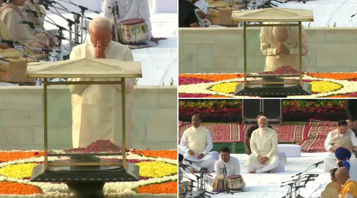 महात्मा गांधी जयंती 2019: पीएम नरेंद्र मोदी ने राजघाट पहुंचकर बापू को किया नमन, विजय घाट में लाल बहादुर शास्त्री को दी श्रद्धांजलि