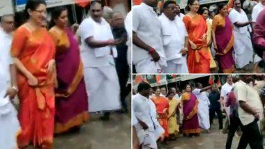 चेन्नई: सड़क पर भरा था गंदा पानी, निर्मला सीतारमण ने पदयात्रा के दौरान ऐसे किया पार- देखें वीडियो