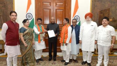 मुर्शिदाबाद हत्याकांड: बीजेपी की उच्चस्तरीय प्रतिनिधिमंडल ने राष्ट्रपति रामनाथ कोविंद से की मुलाकात, मामले में हस्तक्षेप करने की मांग की