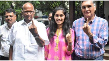महाराष्ट्र विधानसभा चुनाव 2019: एनसीपी प्रमुख शरद पवार ने डाला वोट, लोगों से की लोकतांत्रिक अधिकार का इस्तेमाल करने की अपील