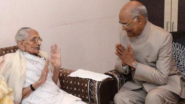गुजरात: प्रधानमंत्री मोदी की मां हीरा बा से मिले राष्ट्रपति रामनाथ कोविंद, जाना उनका हाल