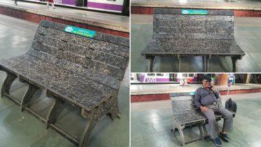 पर्यावरण को दूषित होने से बचाने के लिए रेलवे की नई पहल, मुंबई के चर्चगेट स्टेशन पर लगाई रीसाइकल्ड प्लास्टिक से बनी बेंच