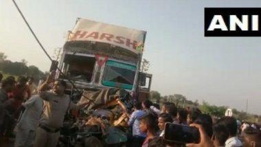 राजस्थान के चूरू में दर्दनाक हादसा, नेशनल हाईवे पर ट्रक-कार की जोरदार भिड़ंत में 7 लोगों की मौत
