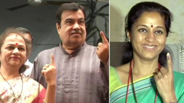 Maharashtra Assembly Elections 2019 | Live News Updates of Voting: माधुरी दीक्षित ने बांद्रा में किया मतदान